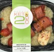 Keto2go Brochette de saucisses sans gluten Keto (glu: 8.0 g)