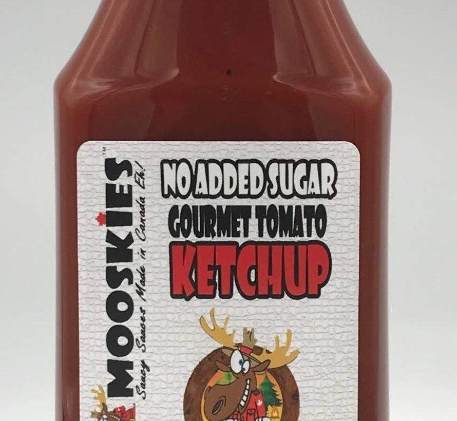 Crazy Mooskies Ketchups épicé gastronomiques sans sucre ajouté avec stévia, 375ml