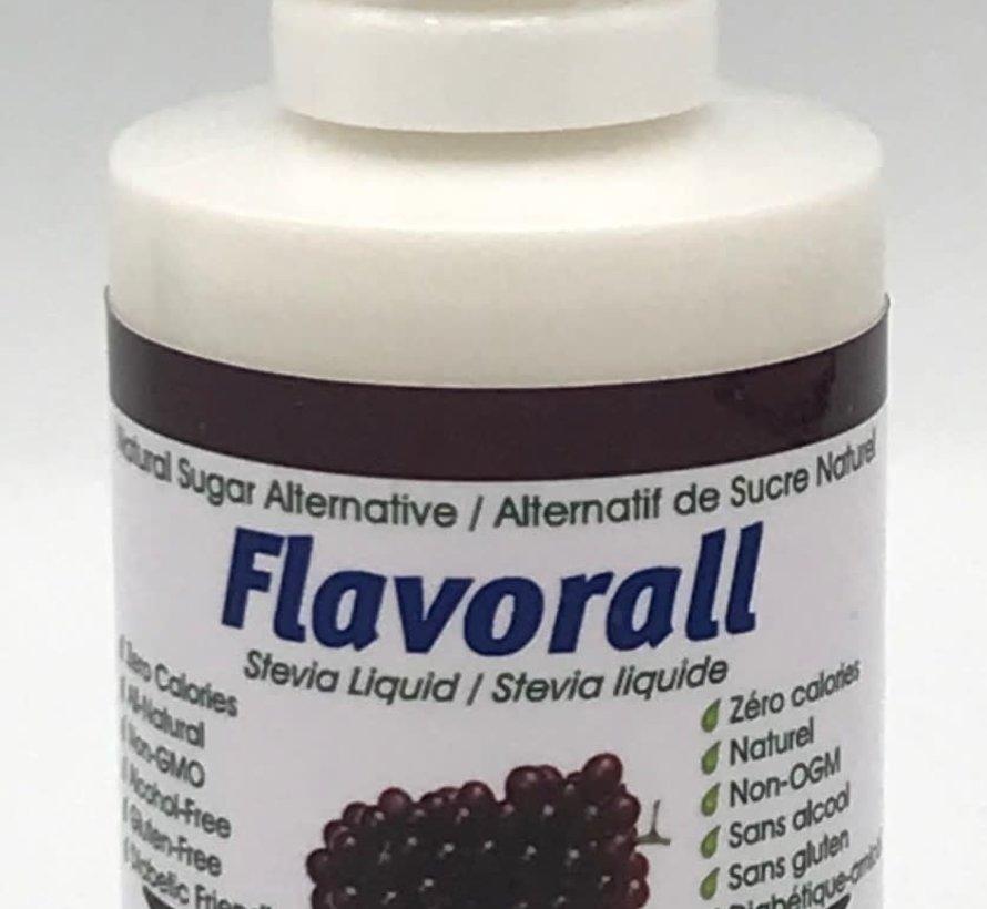 Gouttes de stévia liquide Flavorall saveur raisin, 50ml