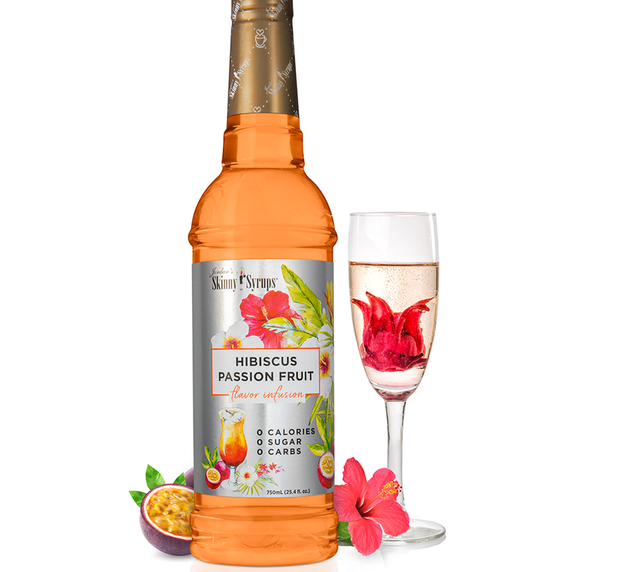 Skinny Syrups, 750mL Hibiscus passion fruité