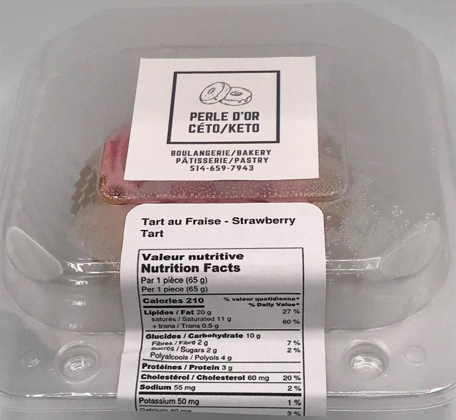 Tartelette aux fraises Keto (glu: 4,0 g)