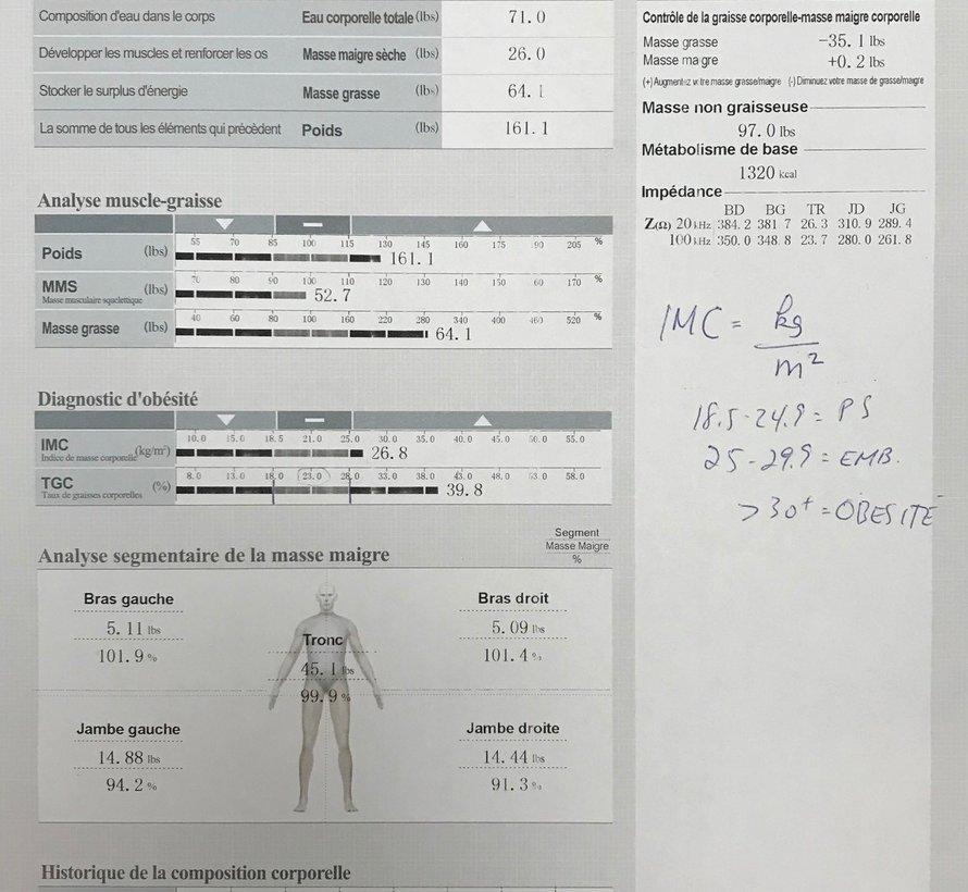 Première rencontre d'évaluation + InBody (60 min.)
