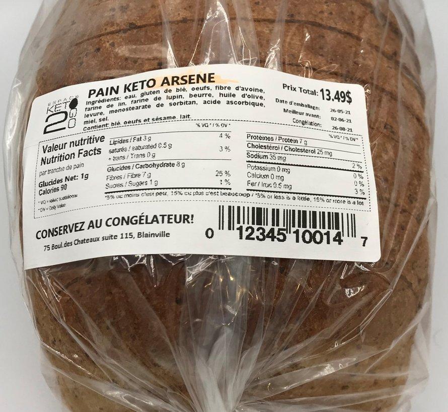 Pain blanc Arsene Keto / Cétogène (glu: 1,0 g)