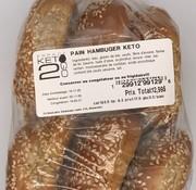 Keto2go Pains hamburger Keto / Cétogène (Glu: 2.2g)