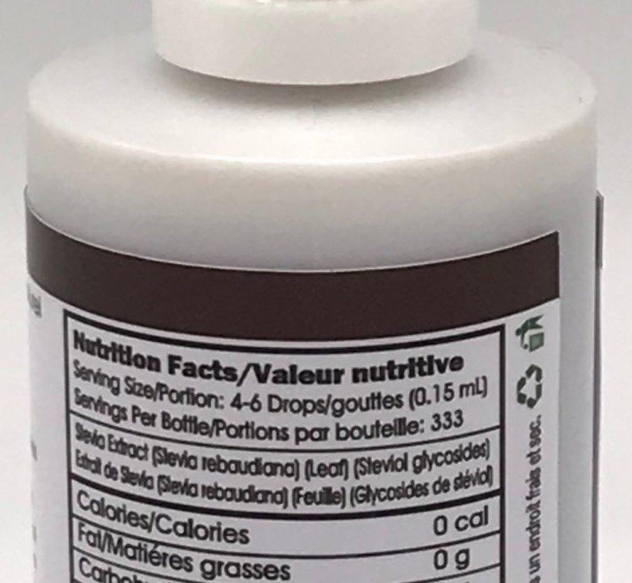 Gouttes de stévia liquide Flavorall saveur chocolat, 50ml