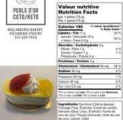 Perle D'or Petit gâteau à la vanille Keto (glu: 2,0 g)