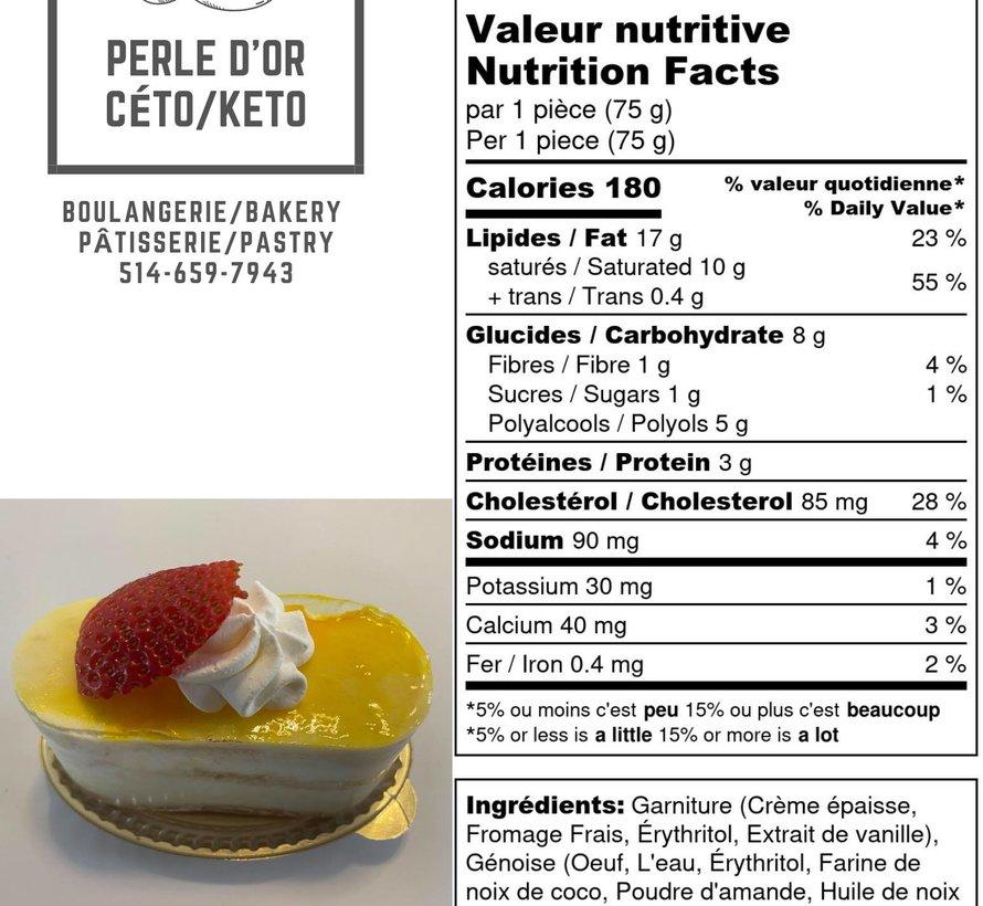 Petit gâteau à la vanille Keto (glu: 2,0 g)