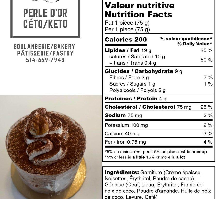 Petit gâteau praliné Keto (glu: 2,0 g)