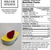 Perle D'or Petit gâteau au citron Keto (glu: 3,0 g)