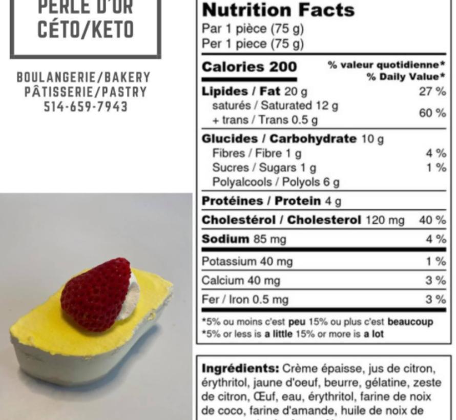 Petit gâteau au citron Keto (glu: 3,0 g)