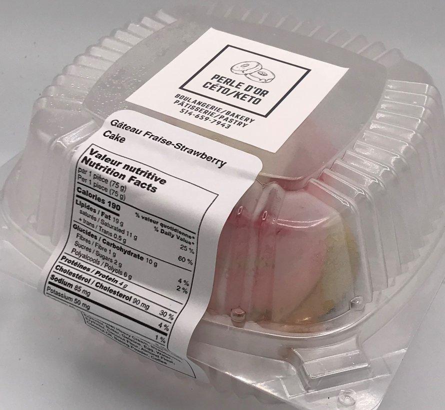 Petit gâteau aux fraises Keto (glu: 3,0 g)