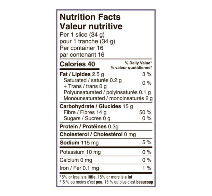 Pain tranché blanc sans gluten 550g – Carbonaut
