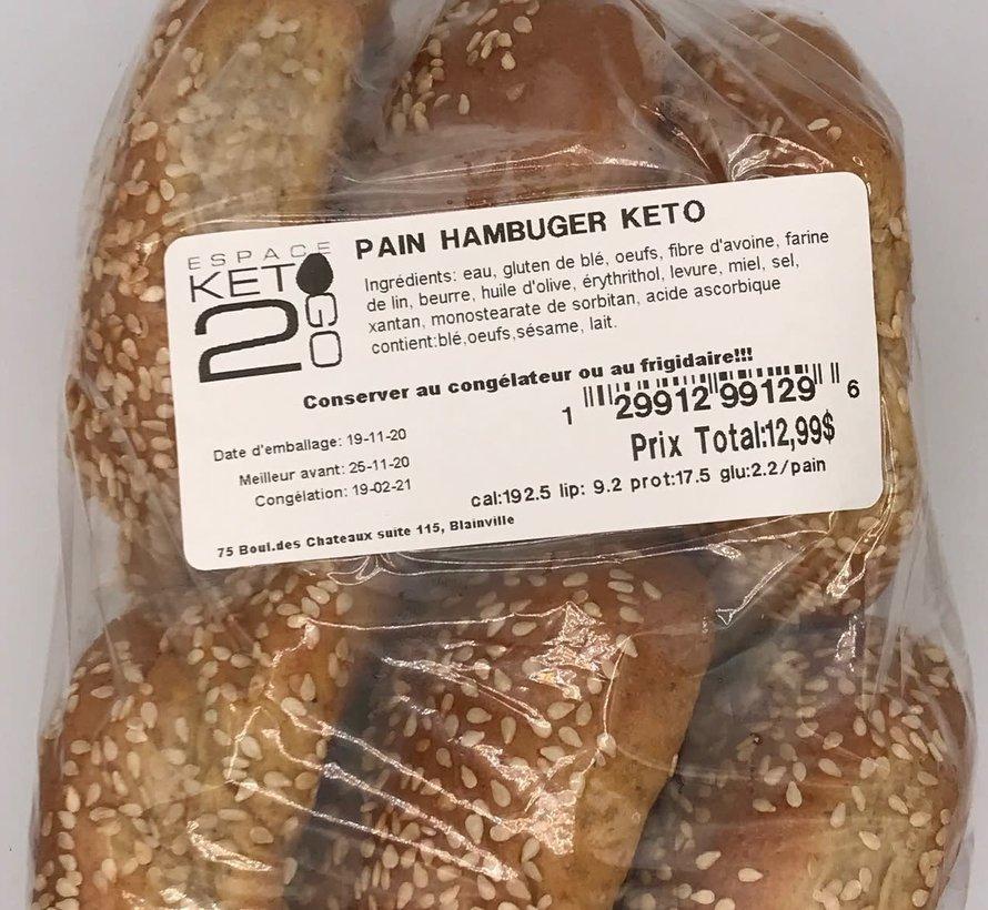 Pains hamburger Keto / Cétogène (Glu: 2.2g)