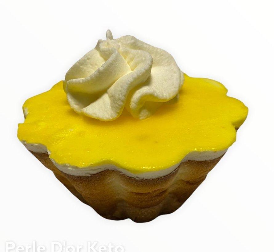 Petit gâteau au fromage Keto, citron (glu: 3 g)