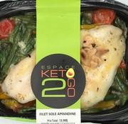 Keto2go Filet de Sole amandine Keto (glu: 5,0 g)