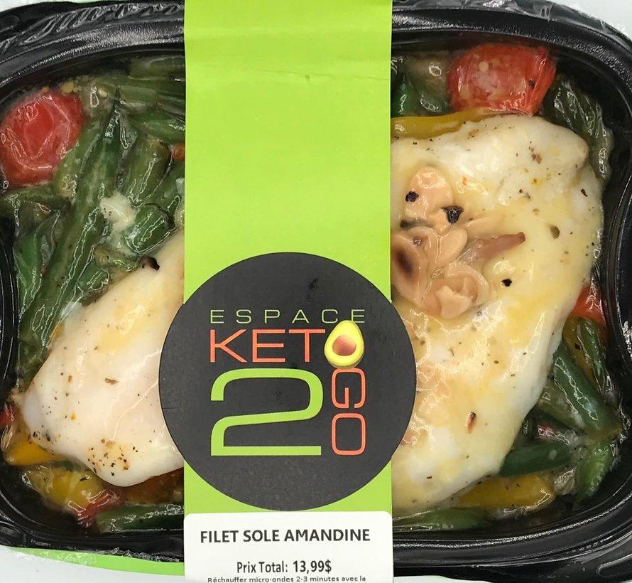 Filet de Sole amandine Keto (glu: 5,0 g)