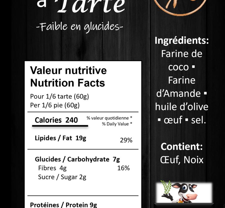 Pâte sans gluten (glu: 3 g pour 60 g)