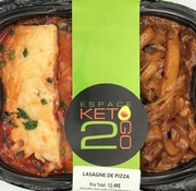 Keto2go Lasagne de pizza Keto (glu: 7 g)
