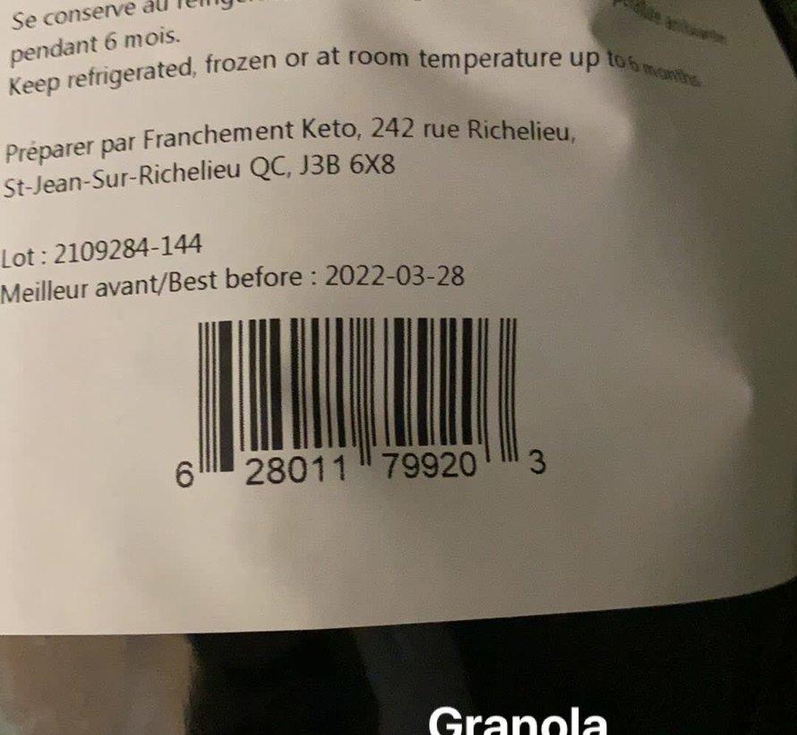 Granola cétogène à l'érable, 500g