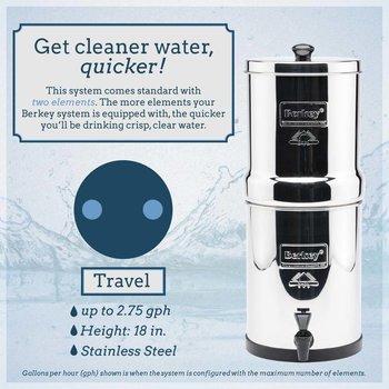 Berkey Water Purification Travel  1.5 gal.