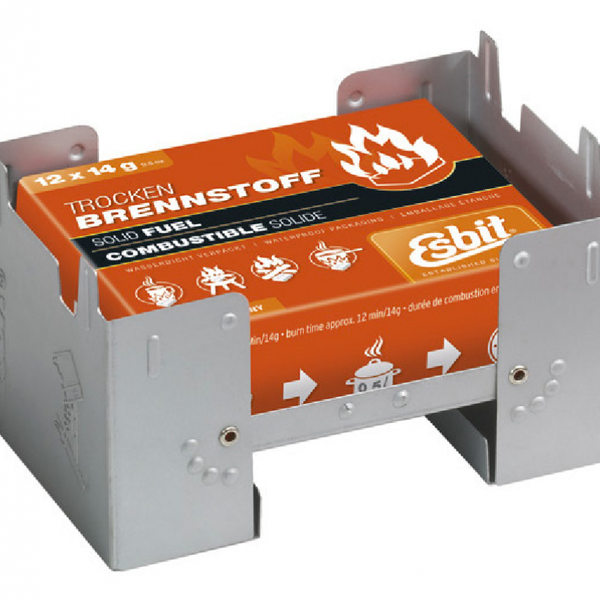 ESBIT LARGE POCKET STOVE w/ 12pc