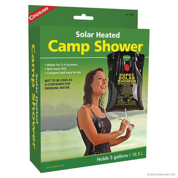 Coghlans Solar Heat Camp Shower 5 G