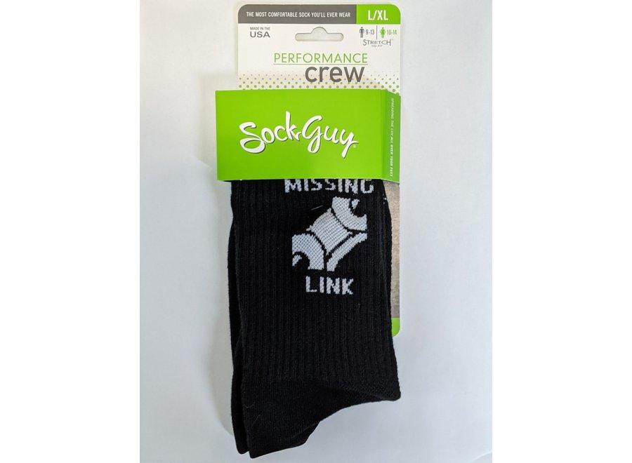 Missing Link Socks, Crew, L/XL