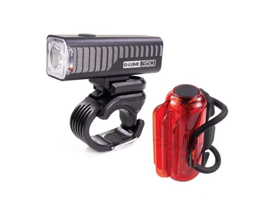 Serfas E-Lume 350 + Cosmo 30 Headlight/Tail Light Set