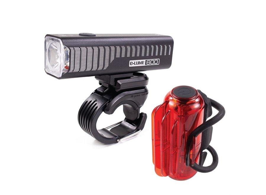 Serfas E-Lume 600 + Cosmo 60 Headlight/Tail Light Set