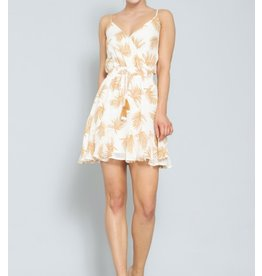 Tropical Dress - Camel