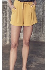 Tie Detail Woven Shorts - Honey