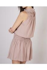 Smocked Detail Dress - Latte