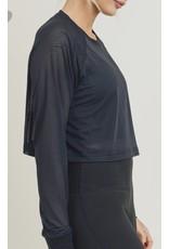 Mesh Cropped Top - Black