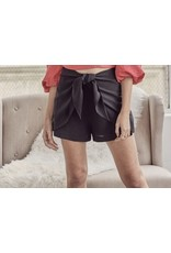 Tie Detail Shorts - Black