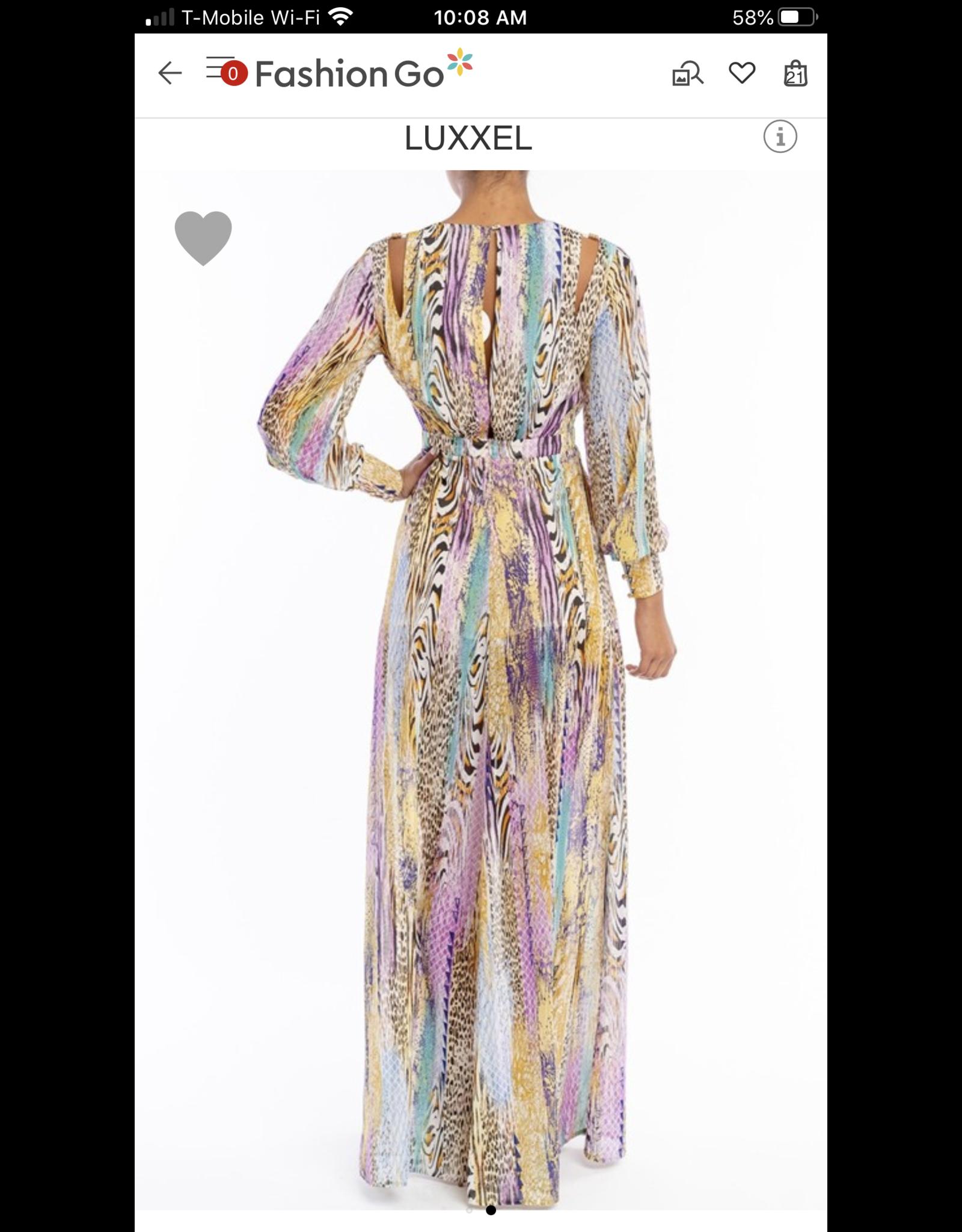 Leopard Maxi Dress - Purple