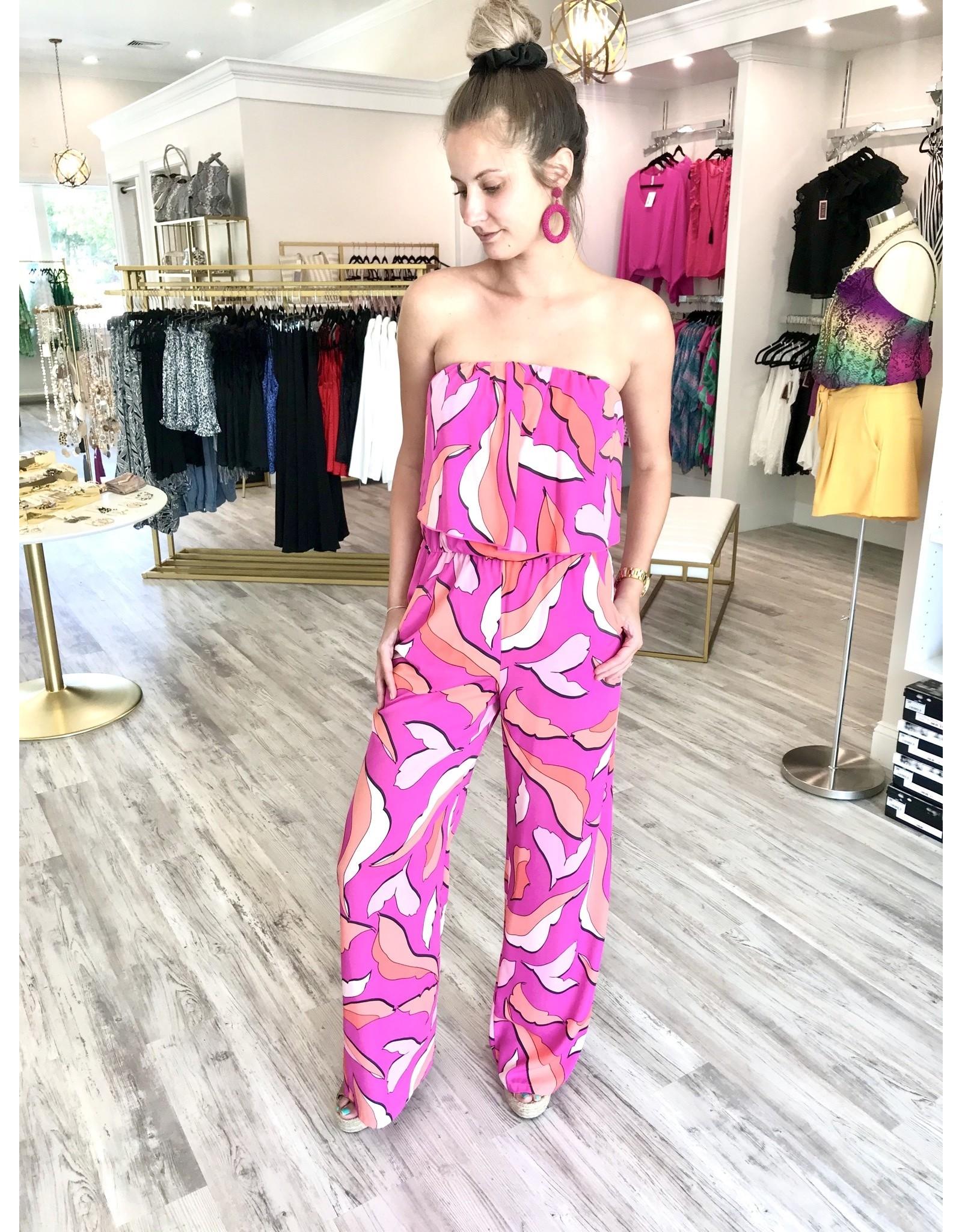 Tropical Jumpsuit - Pink