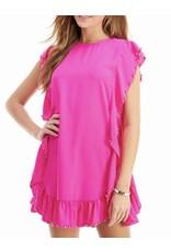 Studded Detail Dress - Barbie Pink