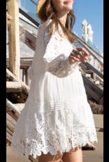 Lace Crochet Detail - White
