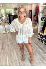 Star Tie Dye Sweater - Ivory