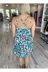 Leopard Dress - Jade