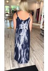 Tie Dye Maxi Dress - Navy