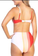 Striped 2pc. Bikini Set- PINK/RED