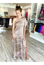 One Shoulder Dress - Taupe