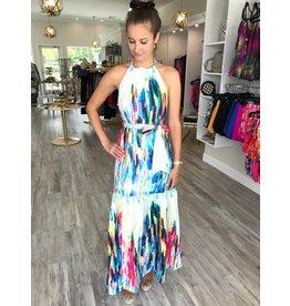 Rainbow Water Maxi Dress - Multi
