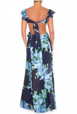 Floral Maxi Dress - Navy