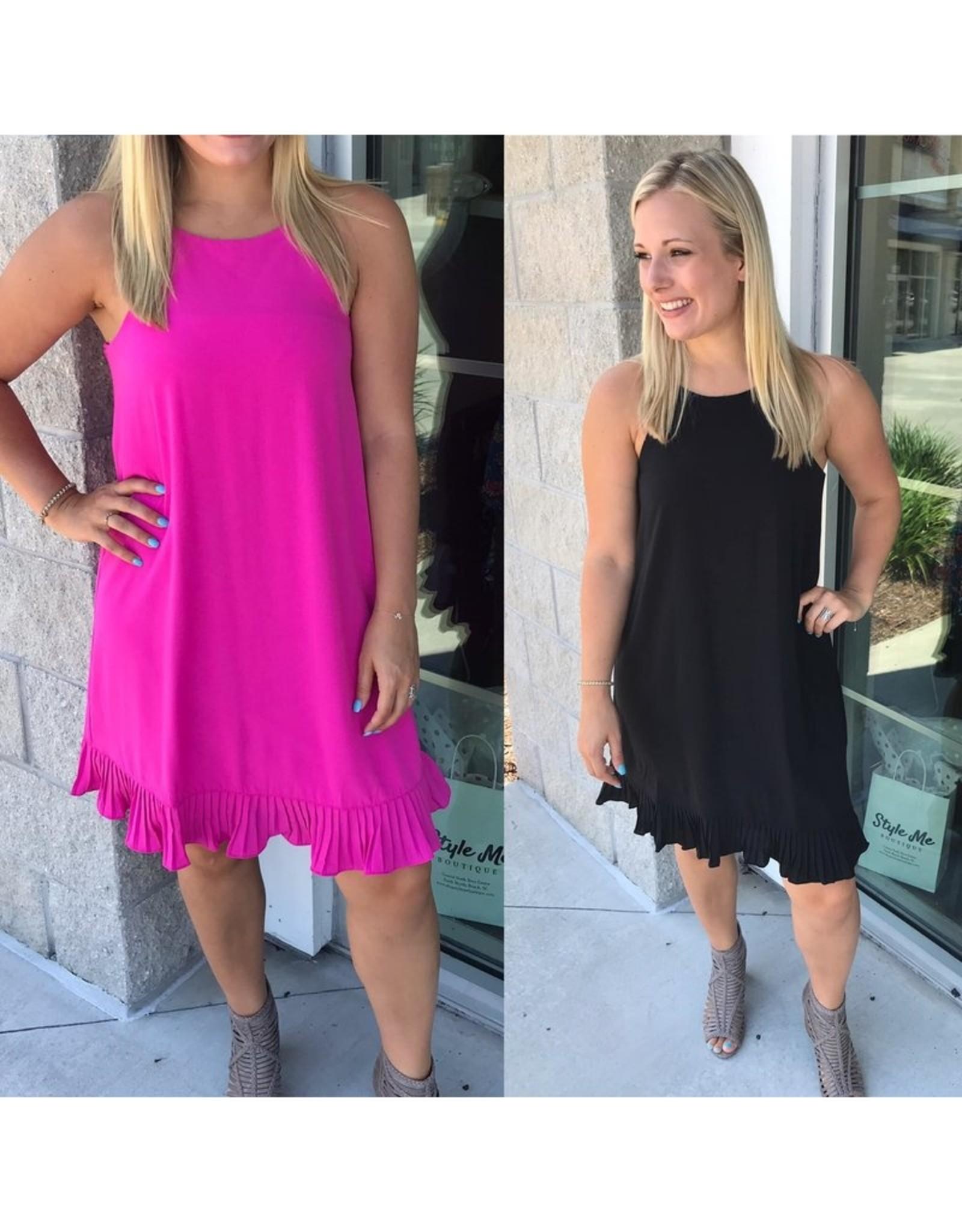 She & Sky Pleated Bottom Dress