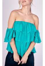 Off Shoulders Ruffle Top - Jade