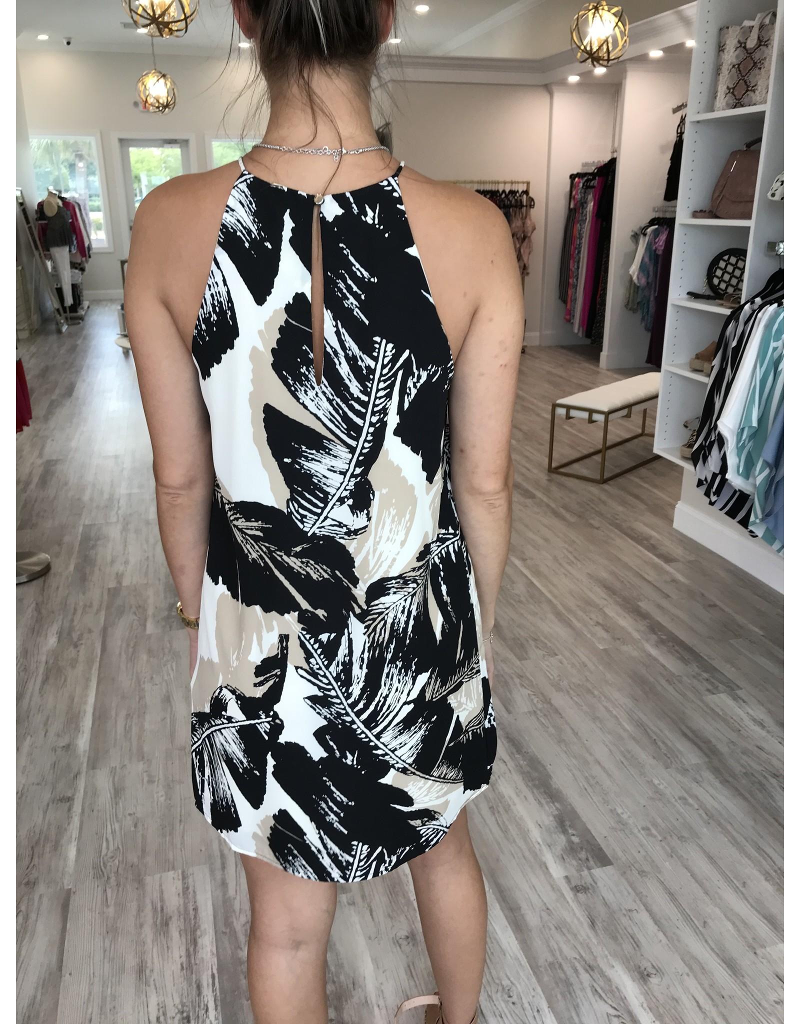 3726 Tropical Shift Dress - CREAM