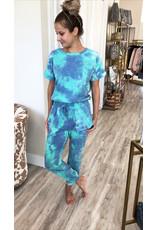 Tie Dye Lounge Set - Turquoise
