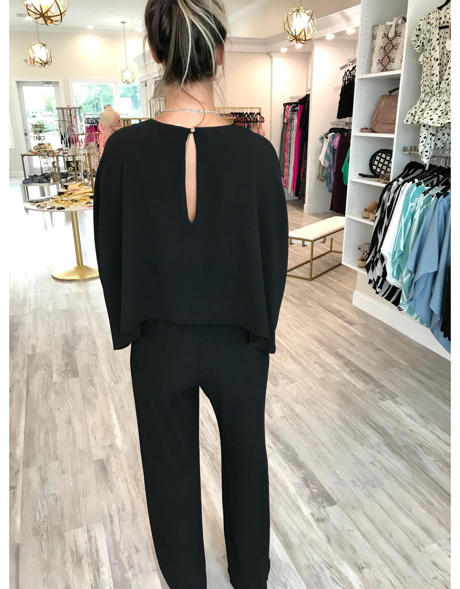 Kimono Jumpsuit - Black